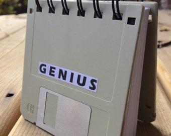 Original Genius Recycled Blank Floppy Disk Mini Notebook in Black
