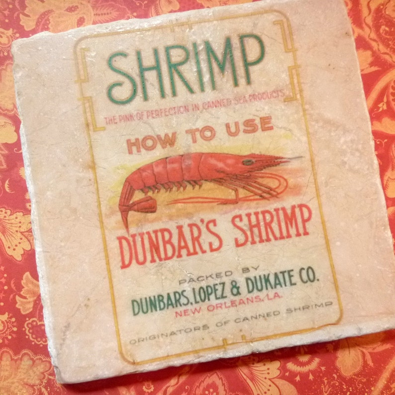 Marble trivet  Shrimp label image 0