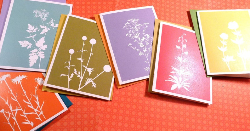 Spring floral silhouette cards 2012 image 0