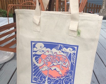 Charleston Grow Your Own Roots Tote - Grape