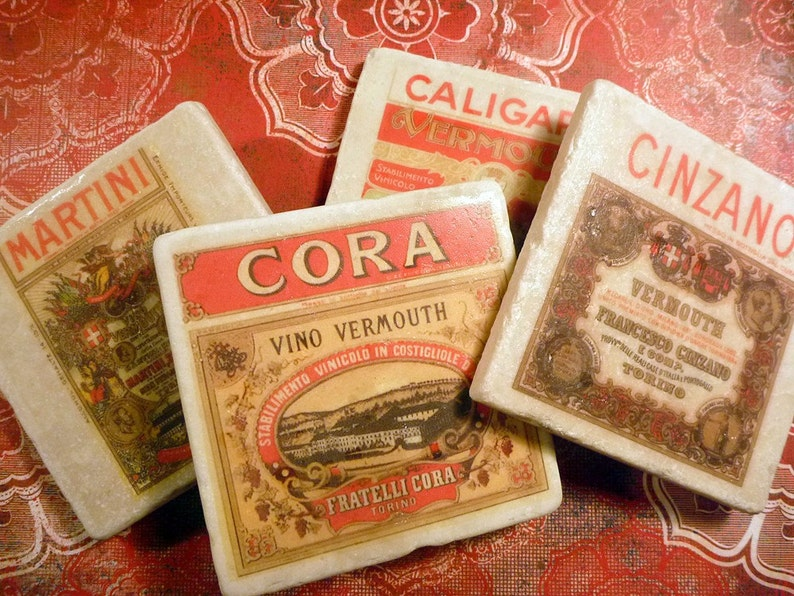Marble coasters  drink labels image 0