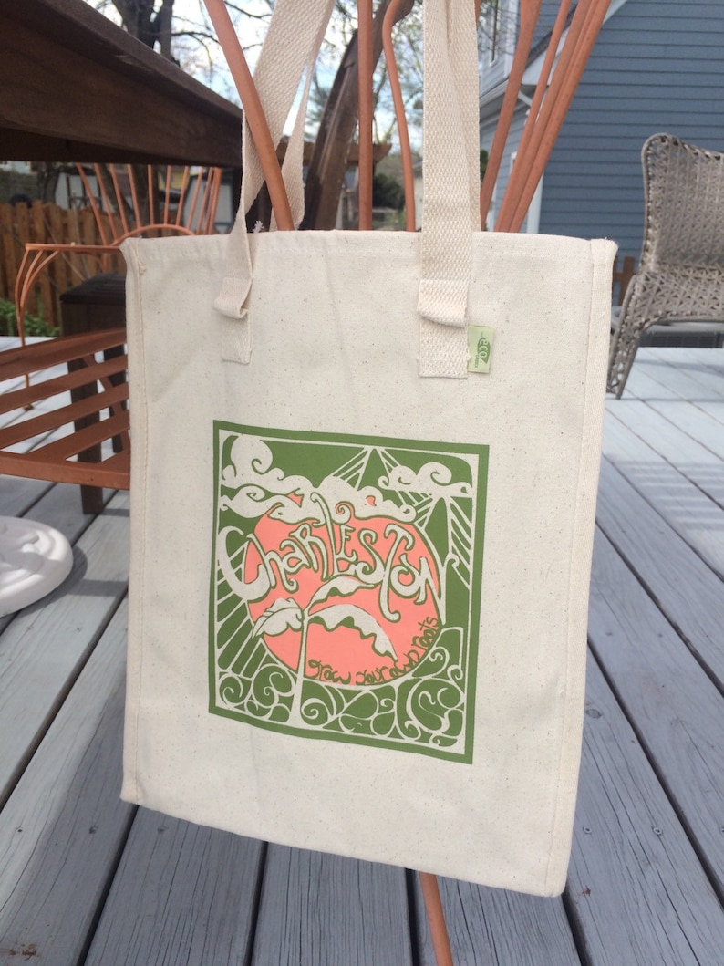 Charleston Grow Your Own Roots Tote  Green image 0