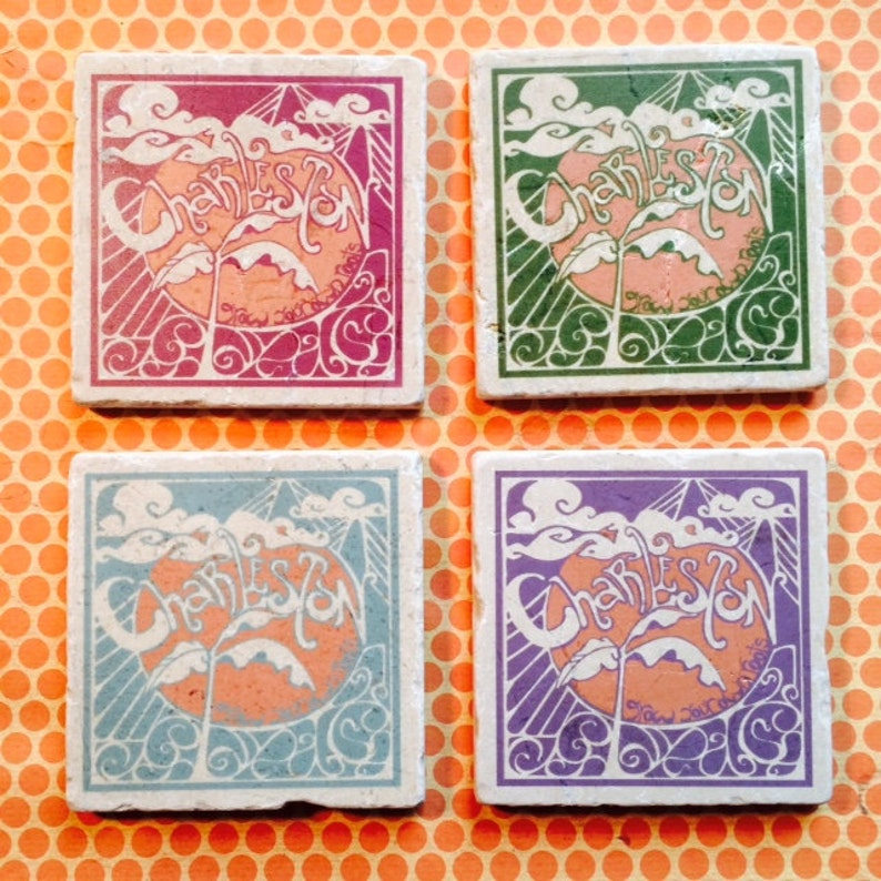 Marble coasters  Charleston Grow Your Own Roots image 0