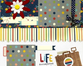 Premade Scrapbook Page - Life Documented