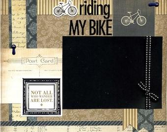 Premade Scrapbook Page - Riding My Bike