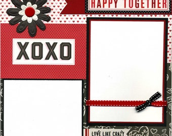 Happy Together XOXO - Premade Scrapbook Page