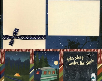 Under the Stars - Premade Scrapbook Page