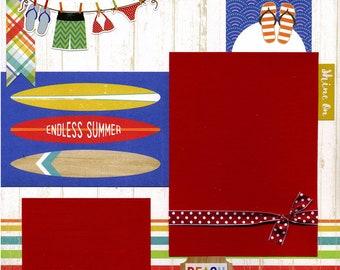 Endless Summer - 12x12 Premade Scrapbook Page