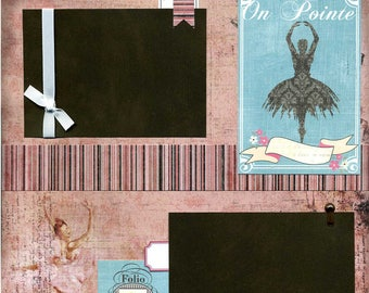 On Pointe - Premade Ballet Scrapbook Page