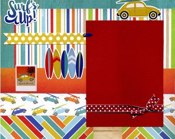 Surf's Up - 12x12 Premade Scrapbook Page
