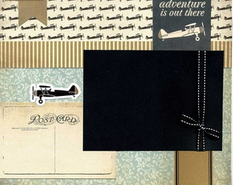 Adventure Is Out There - 12x12 Premade Scrapbook Page