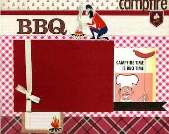 Campfire BBQ - 12x12 Premade Scrapbook Page