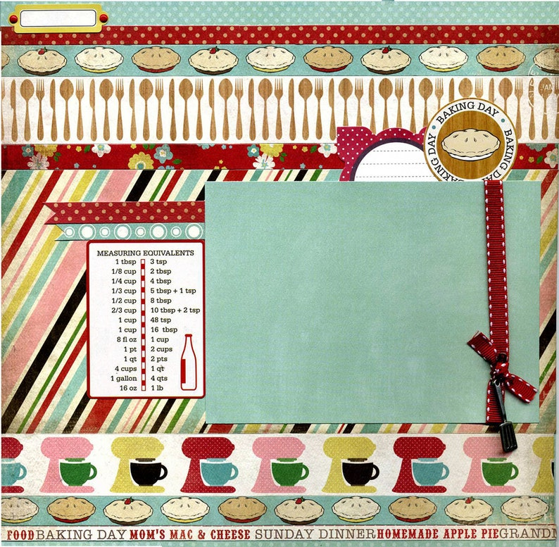 Baking Day - Premade Cooking Scrapbook Page