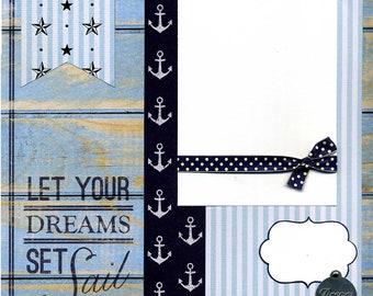 Let Your Dreams Set Sail - Premade Scrapbook Page