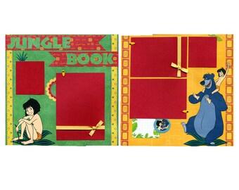 Jungle Book - Premade Scrapbook Page Set