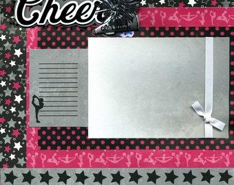 Premade Scrapbook Page - Cheer - Go Team