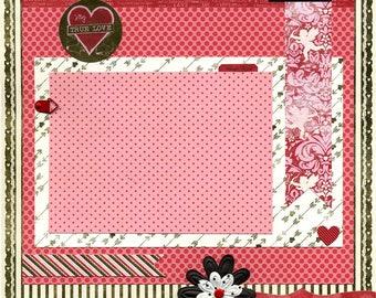 My True Love - Premade Scrapbook Page