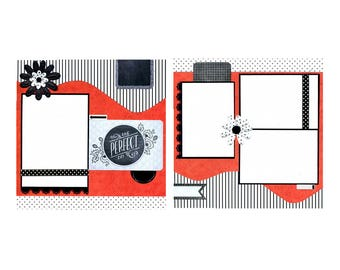 One Perfect Day - Premade Scrapbook Page Set