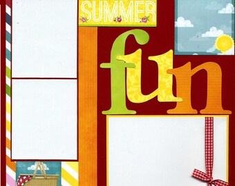 Summer Fun - 12x12 Premade Scrapbook Page