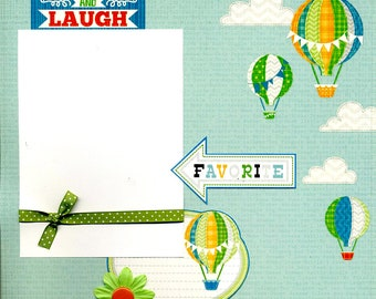 Giggle and Laugh - Premade Scrapbook Page