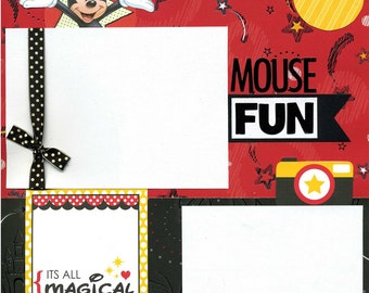 Mouse Fun - Premade Scrapbook Page