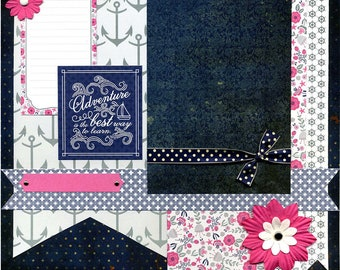 Adventure is the Best Way to Learn - Premade Scrapbook Page