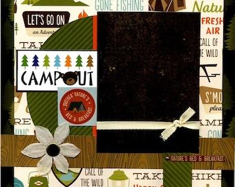 Campout - 12x12 Premade Scrapbook Page