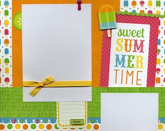 Sweet Summertime - Premade Scrapbook Page
