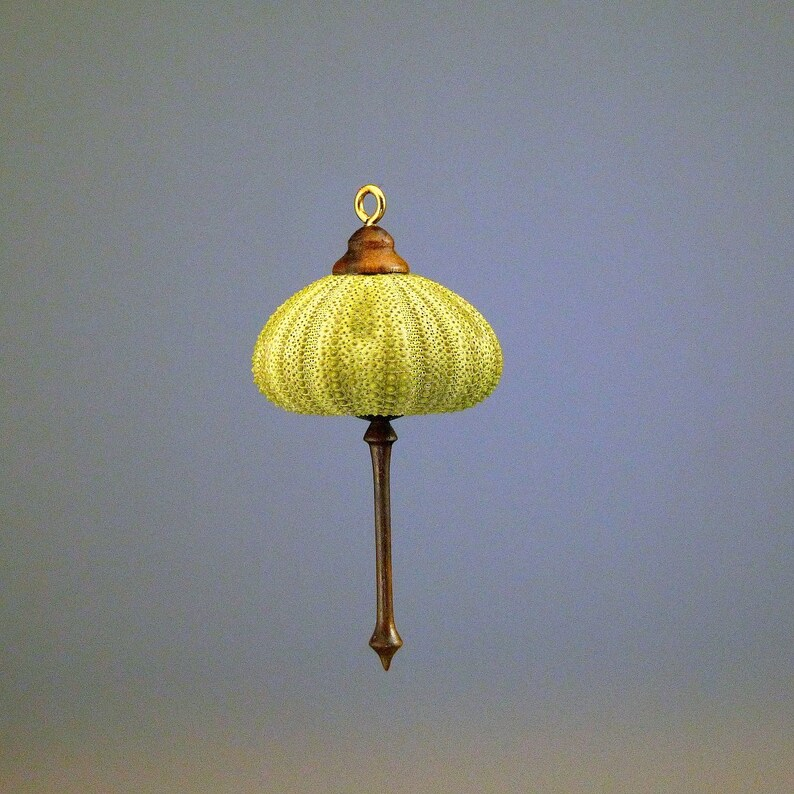 Hanging Ornament Green Sea Urchin  OR66 image 0