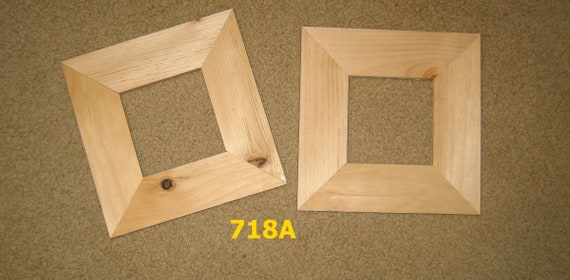 Two 4x4 Wide Moulding Picture Frames Unfinished Wood 718a Etsy