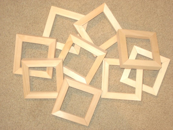 Unfinished Wood Picture Frames In Lots Of 6 In 58 Wide Etsy