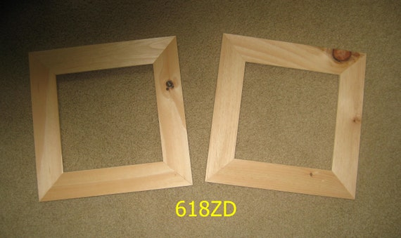 Two 8x8 Wide Moulding Picture Frames Unfinished Wood 618zd Etsy