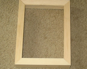 5x7 picture frame with DEEP rabbet for canvases , unfinished  wood
