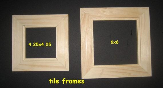 6 Tile float frames unfinished 4.25 x 4.25 for tiles or panels sets of six