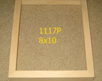 8x10 picture frame with DEEP rabbet for canvases , unfinished  wood