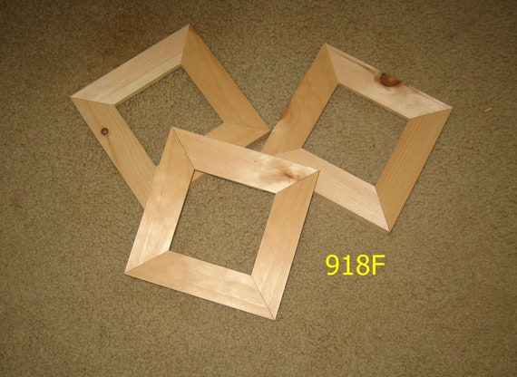 Three 4x4 Wide Moulding Picture Frames Unfinished Wood Etsy