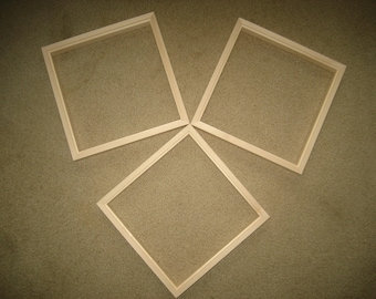 Float, front load picture frames for panels unfinished  wood
