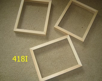 Three 8x10 picture frame with DEEP rabbet for canvases , unfinished  wood (418I)
