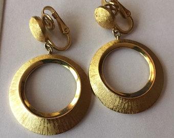f08a569e77c3a Trifari hoop earring | Etsy