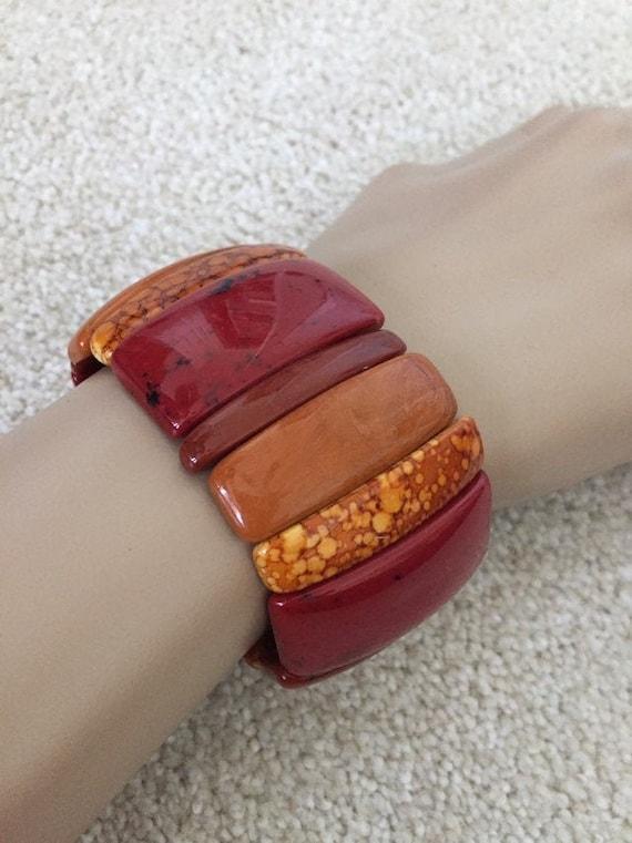 Vintage  Bracelet, Summer Bracelet, Early Plastic,