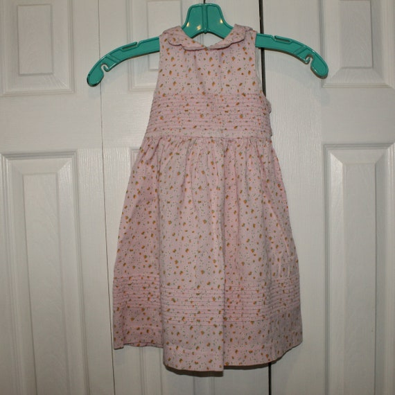 Vintage Laura Ashley Girls Fine Wale Cord Pink Flo