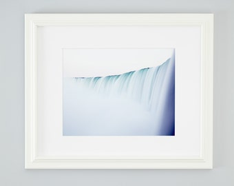 Minimalist Niagara Falls photograph. Modern landscape photography. Large nature wall art for over sofa. Housewarming gift for travel lover.