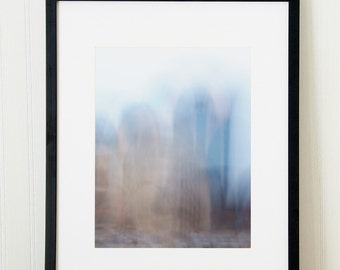 Abstract cityscape photograph. Large architecture print. Urban art for corporate office. New job gift for engineer. Downtown London Ontario.