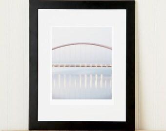 Minimalist Humber Bridge Toronto picture. GTA landmark. Sophisticated zen office decor. Graduation gift for architecture lover. 8x10 print.