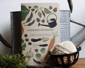 Gardener's Notebook, Mother's Day, Gift for Mom, Harvest Journal, Garden Gifts, Vegetable Growing, Garden Planner, Planting Book, Farm
