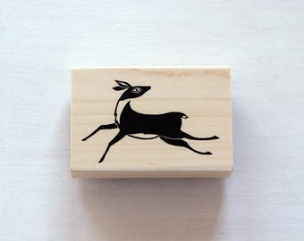 Deer Rubber Stamp, Forest Animal Stamp, Woodland Animal, Mail Art, Paper Crafter, Scrapbooking, Craft Supply, Stationery, Wildlife Stamp