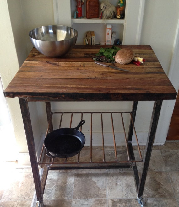 Reclaimed Wood Kitchen Island Butcher Block Built To Order Etsy