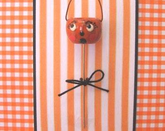 Halloween Vintage Pumpkin Pin Topper