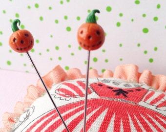Extra Mini Jack-o-Lantern Halloween Pumpkin Pin Topper