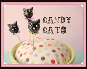 Assorted Candy Cat Pin Topper